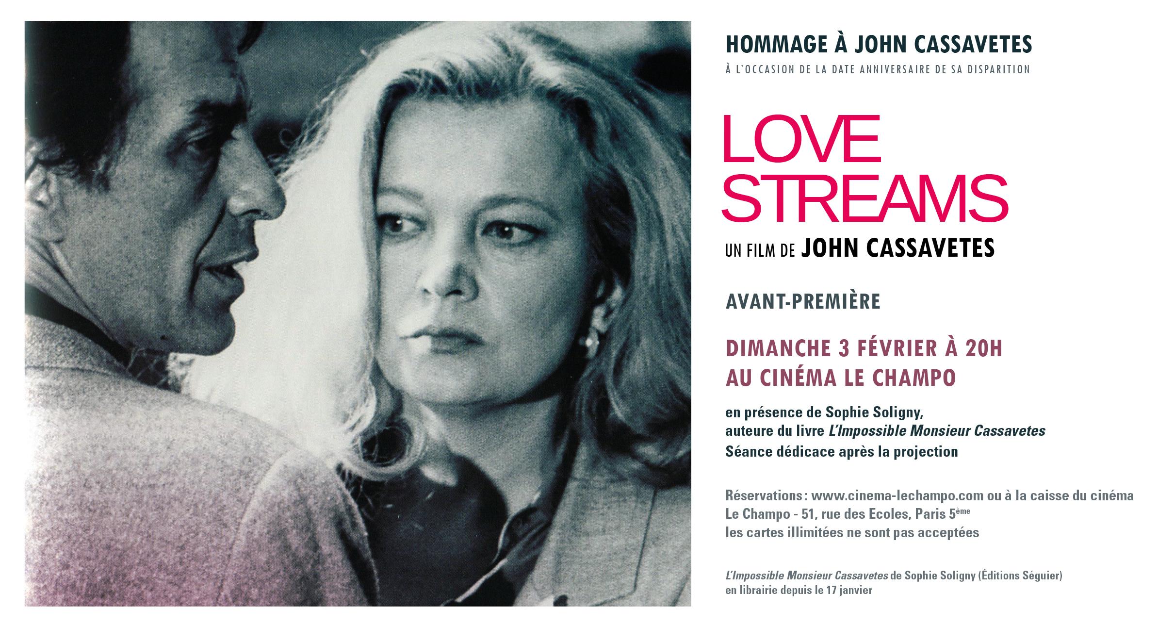 Sophie Soligny au Champo pour la ressortie de Love Streams