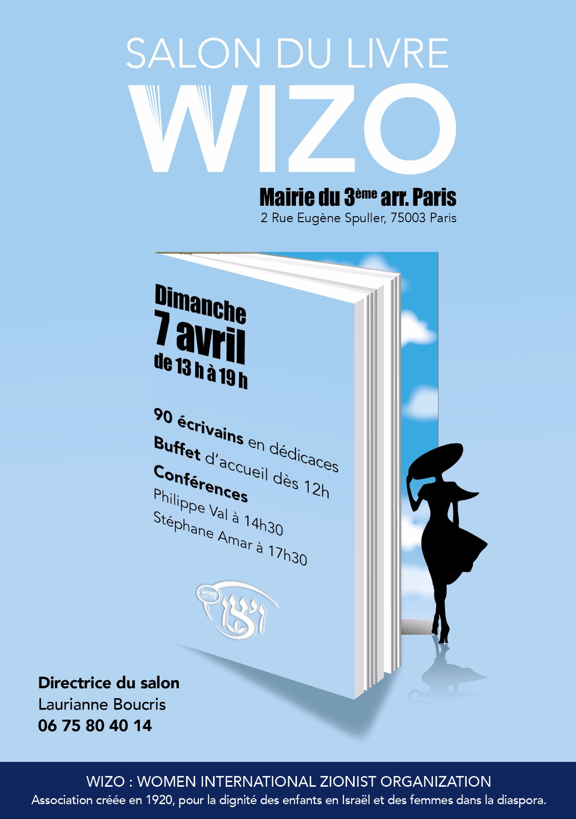 Anne-Marie Mitterrand au Salon du Livre WIZO